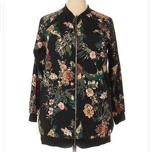 NWT West Kei Floral Lightweight Bomber Jacket